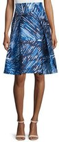 Milly Scribble-Print Midi Skirt