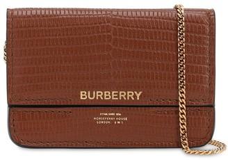 Burberry Jody Lizard Embossed Leather Wallet