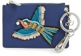 Sam Edelman Women's Carter Bird Embellished Faux Leather Card Case - Blue