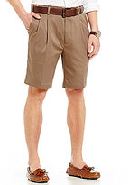 Roundtree & Yorke Pleated Stretch Microfiber Easy Care Shorts