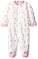Rene Rofe Baby Girls' Microfleece Coverall Zip Front