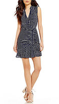 Lucy Paris Cassidy Striped Ruffle Dress