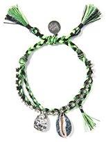 Venessa Arizaga Women's Pear Green Crystals Kumi Bracelet of Length 20.32cm