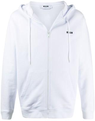 MSGM Zip-Through Hooded Sweatshirt