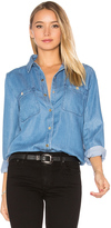 7 For All Mankind Boyfriend Denim Button Up