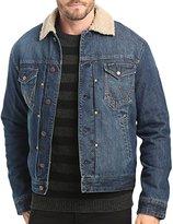 Wrangler Sherpa Fleece Lined Denim Jacket - XL