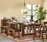 Pottery Barn Benchwright Extending Dining Table + Bench Set