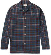 Oliver Spencer Loungewear - Checked Cotton Pyjama Shirt