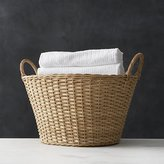 Crate & Barrel Wicker Laundry Basket