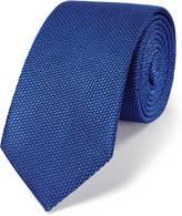 Charles Tyrwhitt Royal blue silk classic plain slim tie