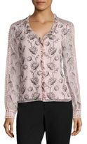 Nanette Lepore Botticelli Embroidered Blouse