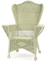 The Well Appointed House Wingback Wicker Chair in Variety Colors