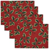 The Big One® Red Holly Print Placemat 4-pk.