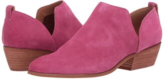 Frye Rubie Slip-On Bootie (Magenta Suede) Women's Pull-on Boots