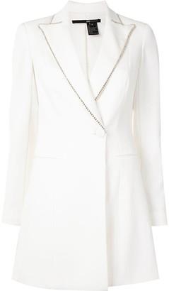 Jay Godfrey Embellished Lapel Blazer Dress