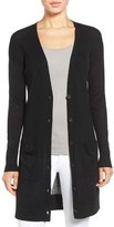 Halogen Rib Knit Wool Blend Cardigan (Regular & Petite)