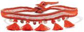 Chan Luu Tassel-trimmed Chiffon Choker - Red