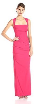 Nicole Miller Women's Felicity Techy Crepe Gown