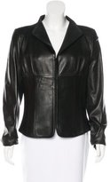 Valentino Leather Zip-Up Jacket