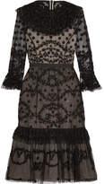 Needle & Thread Shadow Embellished Lace Dress - Black
