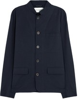 Oliver Spencer Coram Dark Blue Cotton Blend Jacket