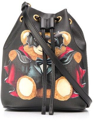 Moschino Bat Teddy Bear bucket bag