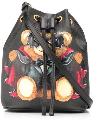 Moschino Bat Teddy Bear bucket bag