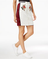 Endless Rose Embroidered Zip-Front Skirt