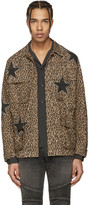 Amiri Brown Leopard Field Jacket