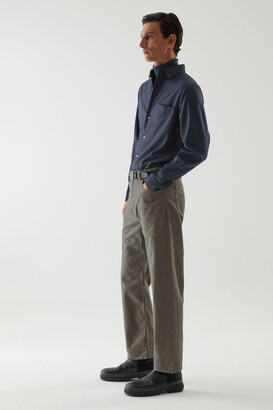 Cos Organic Cotton Straight-Leg Corduroy Pants