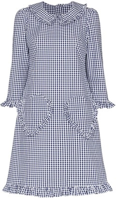 Batsheva Heart Pocket Gingham Print Dress