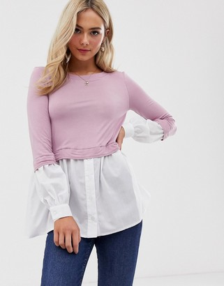 Love layered shirt top