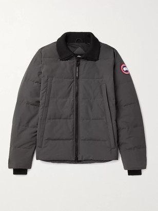 Canada Goose Woolford Slim-Fit Quilted Shell Down Jacket - Men - Gray