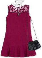 BCX Star Mesh Dress with Necklace and Purse, Big Girls (7-16)