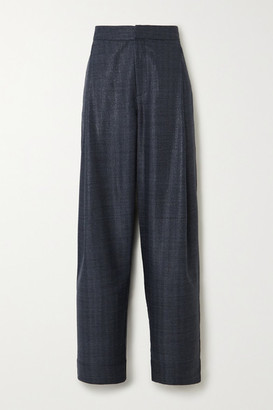 Georgia Alice Bobby Metallic Denim Tapered Pants - Navy