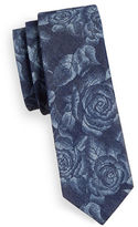 Haight And Ashbury Slim Denim Floral Tie