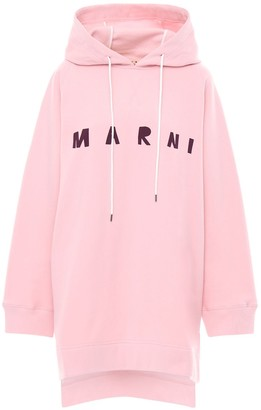 Marni Logo Print Cotton Jersey Sweat Dress