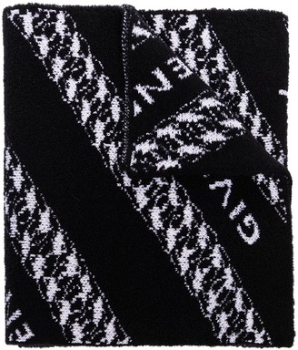 Givenchy Logo-Print Wool Scarf