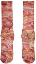 Old Glory Bacon All Over Crew Socks - Boys/Men 9