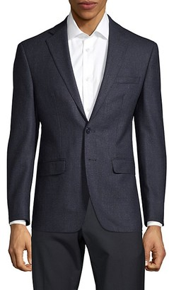 Calvin Klein Slim-Fit Mini Check Wool Blazer