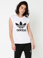 adidas New Womens Boyfriend Trefoil T Shirt In White Tops & T Shirts