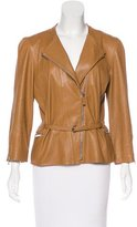 Fendi Leather Zip-Up Jacket