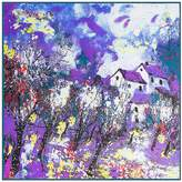 """Anshili Women's Painting Mulberry Silk Square Scarf 40""""x40"""""""