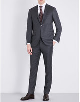Corneliani Birds Eye-print Slim-fit Wool Suit