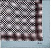Brioni Men's Geometric-Print Silk Pocket Square