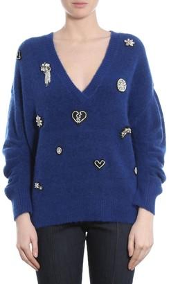 Cinq à Sept Kamila V-Neck Embellished Sweater