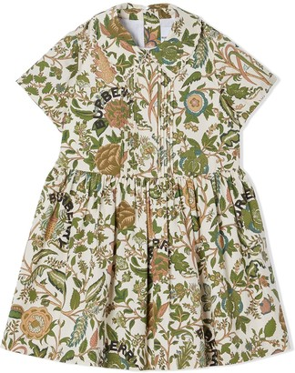 BURBERRY KIDS Botanical-print dress