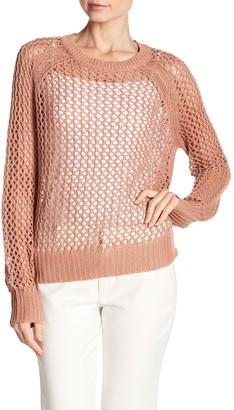 360 Cashmere Amira Open Linen Blend Sweater