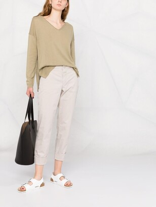 Closed Cropped Tailored Trousers