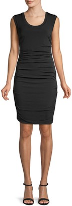 Nicole Miller Ruched Bodycon Dress